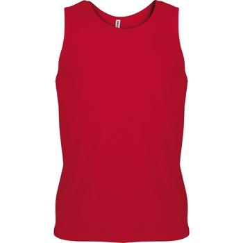 Textil Homem Tops sem mangas Kariban Proact PA441 Vermelho