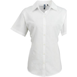 Textil Mulher camisas Premier PR336 Branco