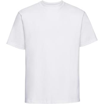 Textil Homem T-Shirt mangas curtas Russell 215M Branco