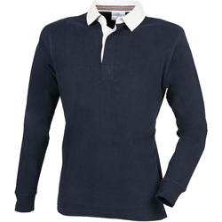 Textil Homem Polos mangas compridas Front Row FR104 Marinha
