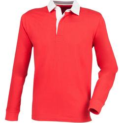 Textil Homem Polos mangas compridas Front Row FR104 Vermelho