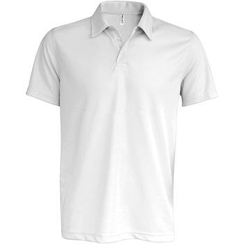 Textil Homem Polos mangas curta Kariban Proact PA482 Branco