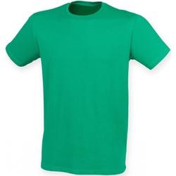 Textil Homem T-Shirt mangas curtas Skinni Fit SF121 Verde