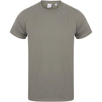 Textil Homem T-Shirt mangas curtas Skinni Fit SF121 Khaki