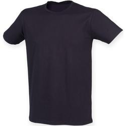 Textil Homem T-Shirt mangas curtas Skinni Fit SF121 Marinha