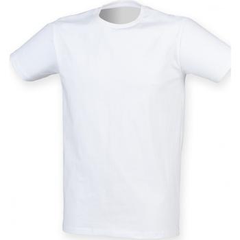 Textil Homem T-Shirt mangas curtas Skinni Fit SF121 Branco
