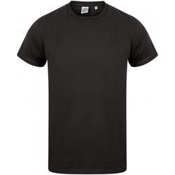 Textil Homem T-Shirt mangas curtas Skinni Fit SF122 Preto