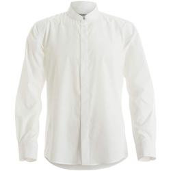Textil Homem Camisas mangas comprida Kustom Kit KK161 Branco