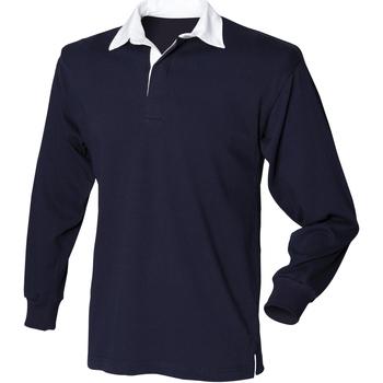 Textil Homem Polos mangas compridas Front Row Rugby Marinha