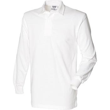 Textil Homem Polos mangas compridas Front Row Rugby Branco