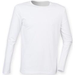 Textil Homem T-shirt mangas compridas Skinni Fit SF124 Branco