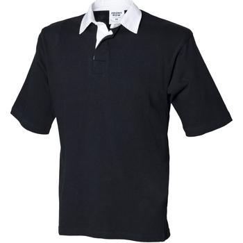 Textil Homem Polos mangas curta Front Row FR03M Preto
