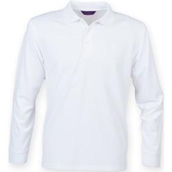 Textil Homem Polos mangas compridas Henbury HB478 Branco