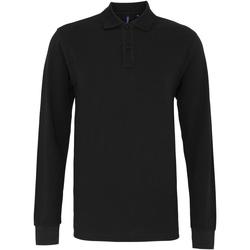 Textil Homem Polos mangas compridas Asquith & Fox AQ030 Preto