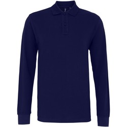 Textil Homem Polos mangas compridas Asquith & Fox AQ030 Marinha
