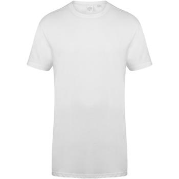 Textil Homem T-Shirt mangas curtas Skinni Fit Dipped Hem Branco