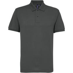 Textil Homem Polos mangas curta Asquith & Fox AQ015 Carvão vegetal