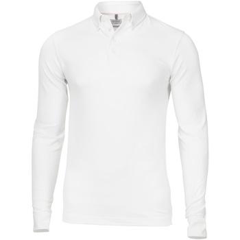 Textil Homem Polos mangas compridas Nimbus NB71M Branco