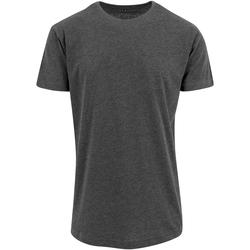 Textil Homem T-Shirt mangas curtas Build Your Brand Shaped Carvão vegetal