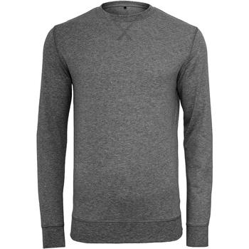 Textil Homem camisolas Build Your Brand BY010 Carvão vegetal