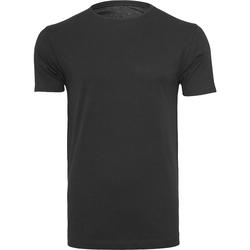 Textil Homem T-Shirt mangas curtas Build Your Brand BY005 Preto