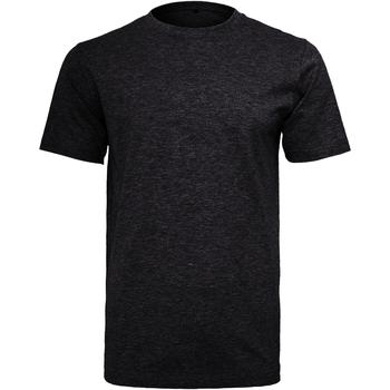 Textil Homem T-Shirt mangas curtas Build Your Brand Round Neck Preto
