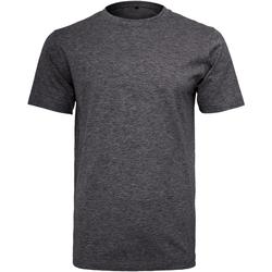 Textil Homem T-Shirt mangas curtas Build Your Brand Round Neck Carvão vegetal