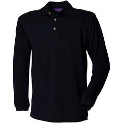 Textil Homem Polos mangas compridas Henbury HB105 Marinha