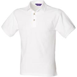 Textil Homem Polos mangas curta Henbury HB410 Branco