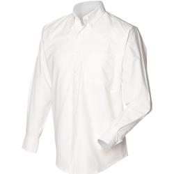 Textil Homem Camisas mangas comprida Henbury HB510 Branco