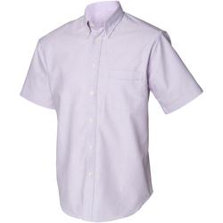 Textil Homem Camisas mangas curtas Henbury HB515 Lilás