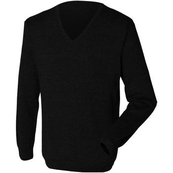 Textil Homem camisolas Henbury 12 Gauge Preto