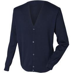 Textil Homem Casacos de malha Henbury HB722 Marinha