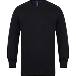 Textil Homem camisolas Henbury Gauge Marinha