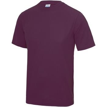 Textil Homem T-Shirt mangas curtas Awdis JC001 Ameixa