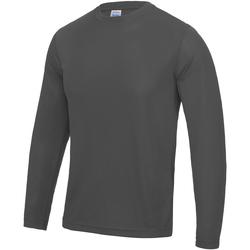 Textil Homem T-shirt mangas compridas Awdis JC002 Carvão vegetal