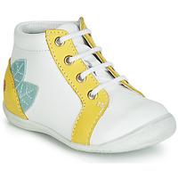 Sapatos Rapariga Sapatilhas de cano-alto GBB FRANCKIE Branco / Amarelo