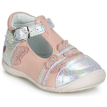 Sapatos Rapariga Sabrinas GBB MERTONE Rosa / Prata