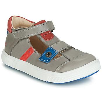 Sapatos Rapaz Sandálias GBB VORETO Cinza / Azul / Vermelho