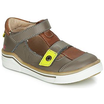 Sapatos Rapaz Sandálias GBB PORRO Cinza / Castanho