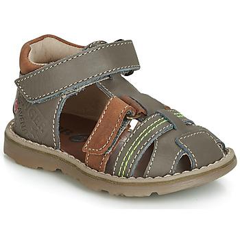 Sapatos Rapaz Sandálias GBB SEVILLOU Cinza / Castanho