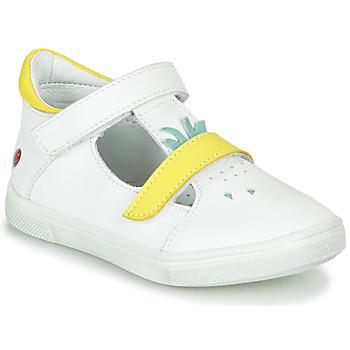 Sapatos Rapariga Sapatilhas de cano-alto GBB ARAMA Branco - amarelo