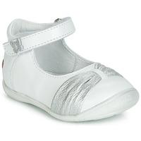 Sapatos Rapariga Sabrinas GBB MALLA Branco / Prata
