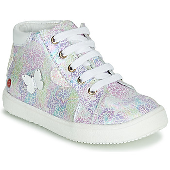 Sapatos Rapariga Sapatilhas de cano-alto GBB MEFITA Prata / Rosa