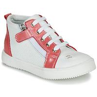 Sapatos Rapariga Sapatilhas de cano-alto GBB MIMOSA Branco - coral