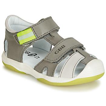 Sapatos Rapaz Sandálias GBB BERTO Cinza
