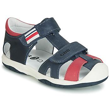 Sapatos Rapaz Sandálias GBB BERTO Marinho / Vermelho