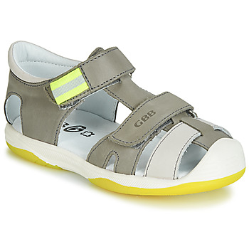 Sapatos Rapaz Sandálias GBB BERTO Cinza / Amarelo