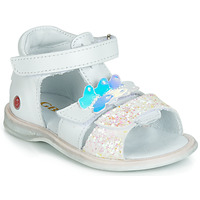 Sapatos Rapariga Sandálias GBB MESTI Branco / Prata