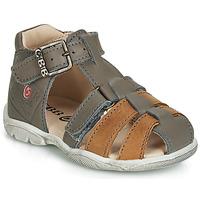 Sapatos Rapaz Sandálias GBB PRIGENT Mostarda / Castanho